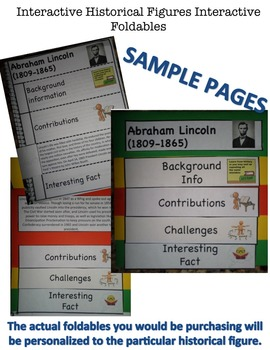 William Bradford Interactive Historical Figure Foldables