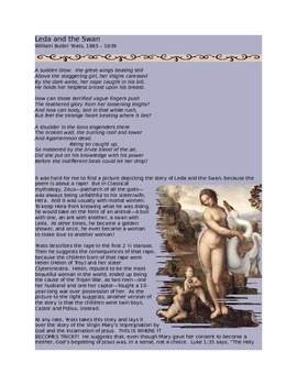 """William Butler Yeats' """"Leda and the Swan"""""""