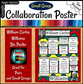 William Carlos Williams Poetry Collaboration Group or Individual Poster