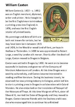 William Caxton Handout