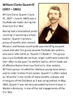 William Clarke Quantrill Handout
