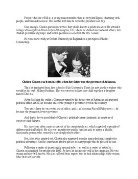 William Clinton - A Short Biography for Kids (with review quiz)