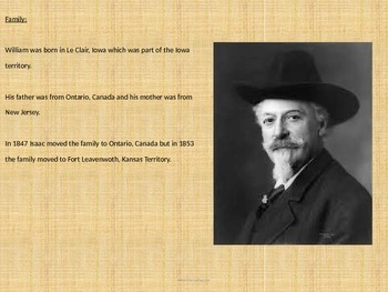 William Cody - Buffalo Bill - Power Point - History Facts Info Pictures