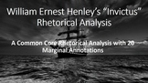 "William Ernest Henley's ""Invictus"" Common Core Rhetorical Analysis"