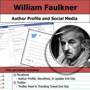 William Faulkner - Author Study - Profile and Social Media