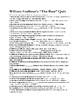 "William Faulkner's ""The Bear"" Quiz w/ Answer Key (50 Mult. Choice)"