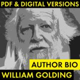 William Golding Author Study Worksheet, PDF & Google Drive