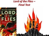 Lord of the Flies by William Golding - Final Test (Short Answer Response)