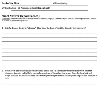 William Golding's Lord of the Flies: Various Assessments