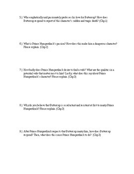 The Princess Bride by William Goldman - Chapters 1-3 Quiz (Short Answer)