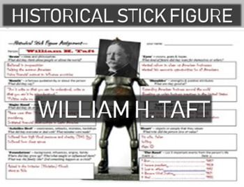 William H. Taft Historical Stick Figure (Mini-biography)