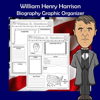William Henry Harrison President Biography Research Graphic Organizer