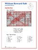 William Howard Taft - Presidents Word Search and Fill in the Blanks