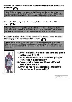 William I (Conqueror) Factsheet and Questions
