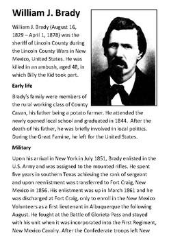 William J. Brady Handout