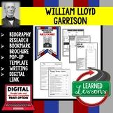 William Lloyd Garrison Biography Research, Bookmark Brochure, Pop-Up, Writing