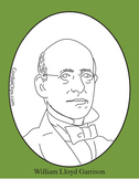 William Lloyd Garrison Clip Art, Coloring Page or Mini Poster