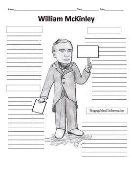 25th President - William McKinley  Graphic Organizer