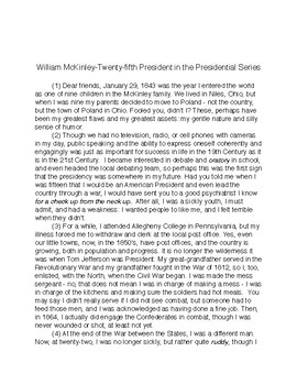 William McKinley: Twenty-fifth President in the Presidential Series