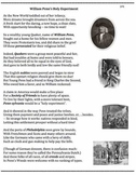 William Penn (25) - poem, worksheets, puzzle