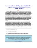 William Penn Charter Privileges DBQ Primary Resource Activity