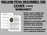 """Description of the Delaware Indians""-William Penn-Colonization of America-APUSH"