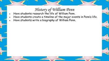 William Penn, Founder of Pennsylvania Mini Unit