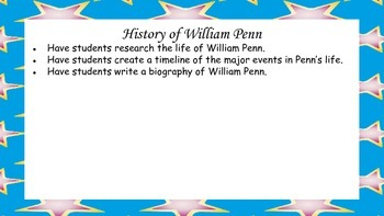 William Penn, Founder of Pennsylvania Mini Unit