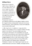 William Penn Handout with activities