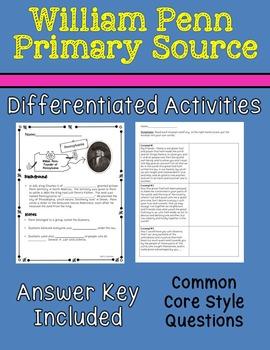 William Penn Primary Source