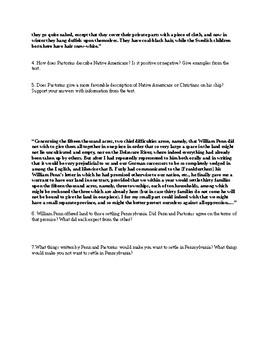 William Penn and Daniel Pastorius- Primary Source Analysis