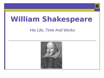William Shakespeare - lesson with powerpoint