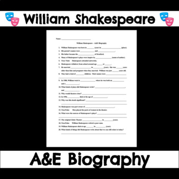 william shakespeare worksheets bluegreenish. Black Bedroom Furniture Sets. Home Design Ideas