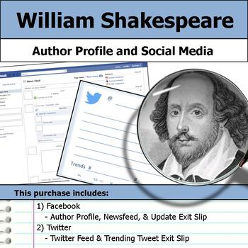 William Shakespeare - Author Study - Profile and Social Media