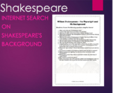 William Shakespeare Biography Internet Search Introduction