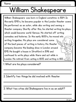 William Shakespeare Biography Pack