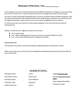 Simple Essays For High School Students  High School Admission Essay Samples also How To Write A Essay Proposal William Shakespeare Biography Photo Essay Assignment By  Healthy Living Essay