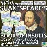 William Shakespeare Book of Insults - Flip Flap Book, Shak