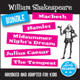 William Shakespeare Bundle of 4 plays,  abridged adaptations