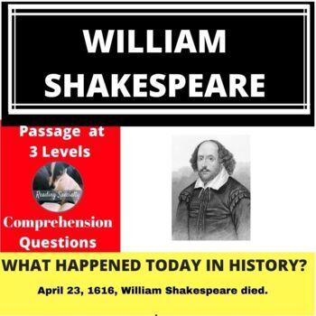 William Shakespeare Differentiated Reading Passage April 23