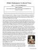 William Shakespeare Biography Reading Passages Activities