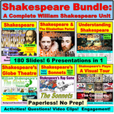 William Shakespeare Unit Bundle:  Paperless, No Prep