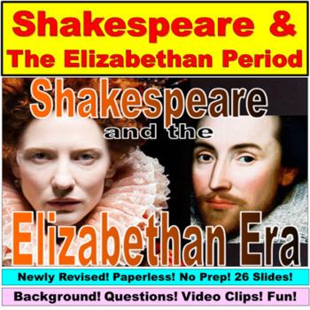 William Shakespeare Unit Bundle:  Paperless, No Prep
