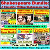 William Shakespeare Interactive PowerPoint Bundle