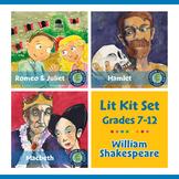 William Shakespeare Lit Kit Set - BUNDLE Gr. 7-12