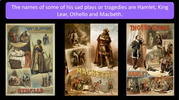 William Shakespeare Presentation Simple Text For Younger Students