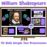 William Shakespeare Presentation Simple Text