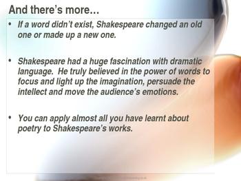 William Shakespeare: Shakespeare's Language