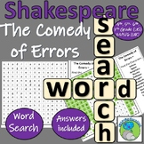 William Shakespeare - The Comedy of Errors - Character Name Wordsearch
