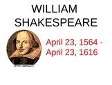 William Shakespeare The Globe Theatre PowerPoint